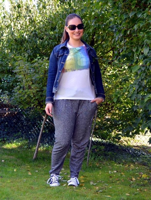 Outfit Jogginghose Jeansjacke 4