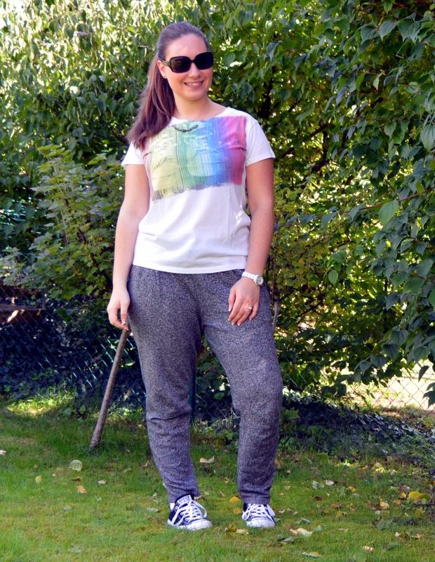 Outfit Jogginghose Jeansjacke 5