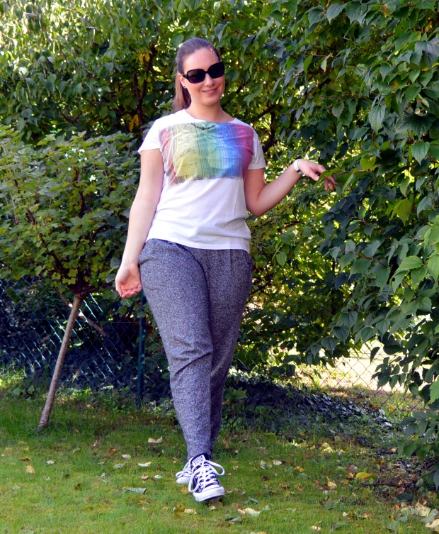 Outfit Jogginghose Jeansjacke 6