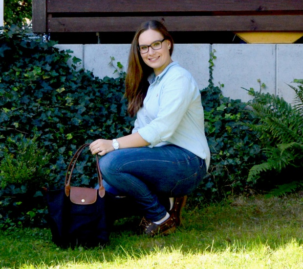 When Anna Denim all Over Longchamp Tasche Ralph Lauren Bluse Esprit Jeans Timberland Schuhe 3