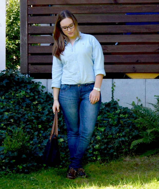 When Anna Denim all Over Longchamp Tasche Ralph Lauren Bluse Esprit Jeans Timberland Schuhe 4