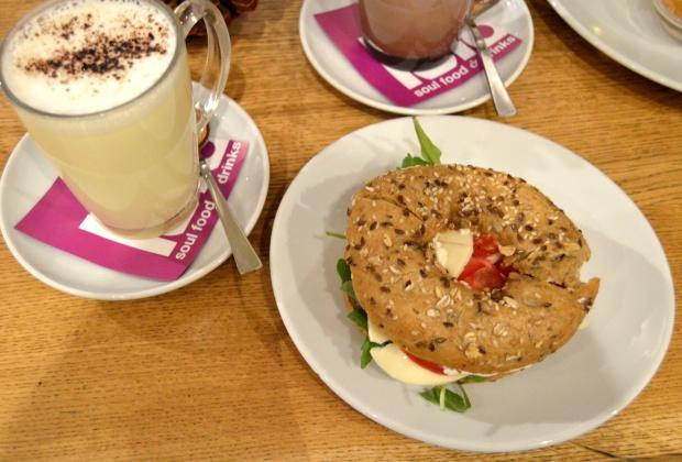 Blogger Breakfast Bagel Weiße Schokolade