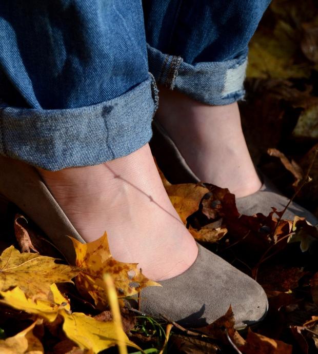 Outfit Boyfriend Jeans Schuhe