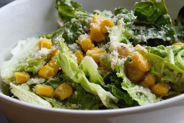 Salat mit Mais und Parmesan 3