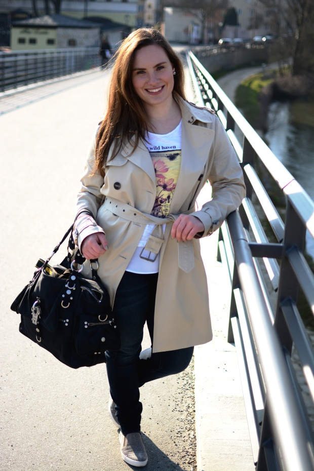 When Anna Trenchcoat Shirt Sneaker