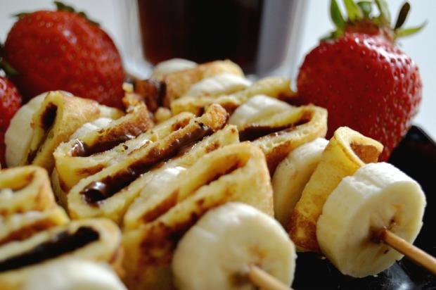 Nutella Bananen Pancakes 3