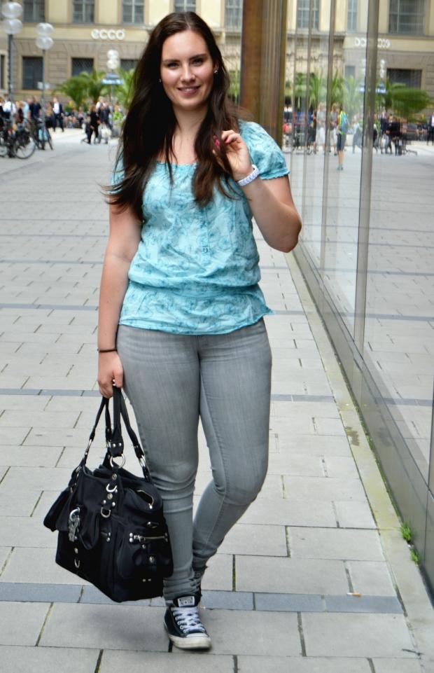 Ralph Lauren Jeans, türkise Bluse 3