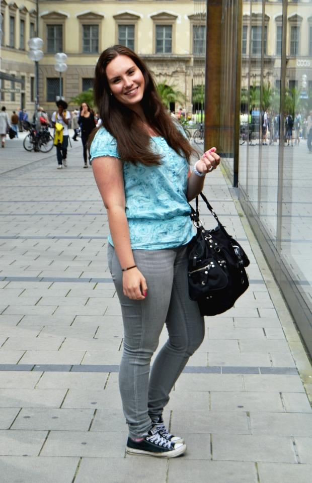 Ralph Lauren Jeans, türkise Bluse1