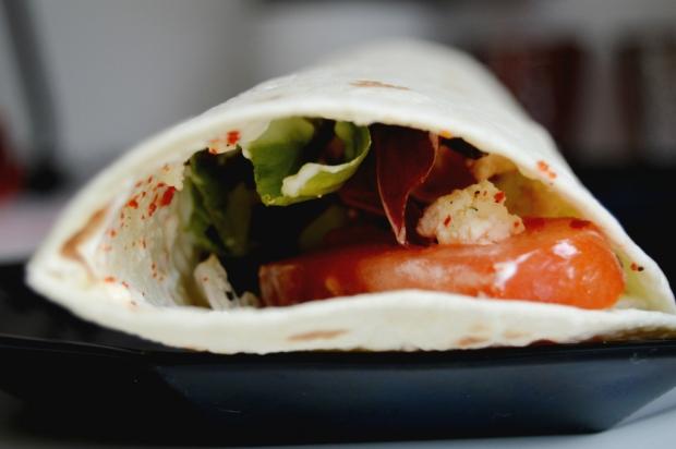 Wrap mit Salat 1