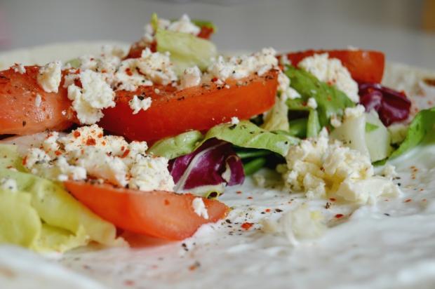 Wrap mit Salat 2