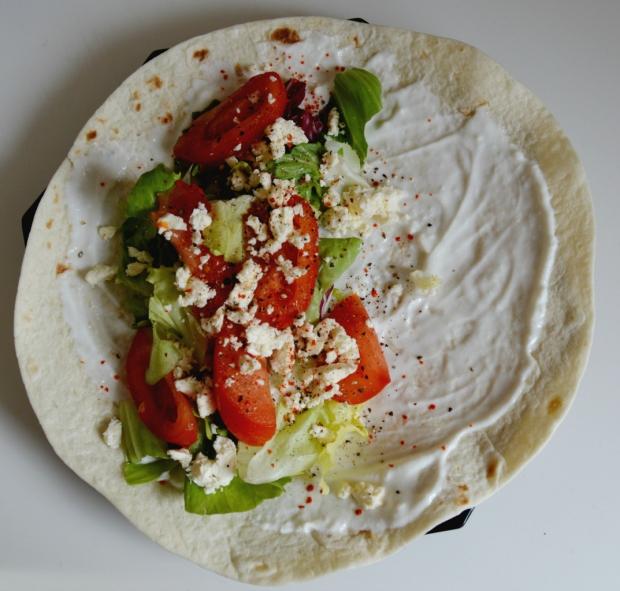 Wrap mit Salat 3