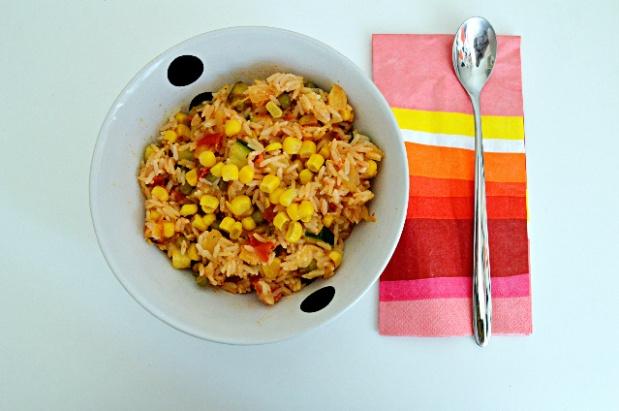 Gemüsepfanne mit Reis 1